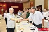 Товарищ Нгуен Фу Чонг провел рабочую встречу с руководителями Киенжангa