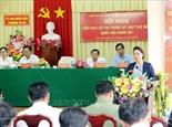 Председатель НС СРВ встретилась с избирателями района Нинькиеу города Кантхо