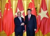 Entrevue entre le PM Nguyen Xuan Phuc et le dirigeant chinois Xi Jinping