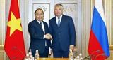 Thủ tướng Chính phủ Nguyễn Xuân Phúc hội kiến lãnh đạo Quốc hội Liên bang Nga