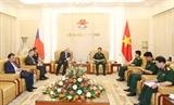 베트남 인민군대 참모총장 체코공화국 하원 부의장과의 접견