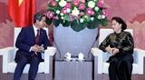 Chủ tịch Quốc hội Nguyễn Thị Kim Ngân tiếp Chủ tịch Nhóm nghị sĩ hữu nghị Hàn - Việt