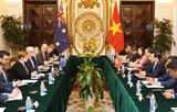 Phó Thủ tướng Bộ trưởng Ngoại giao Phạm Bình Minh hội đàm với Bộ trưởng Ngoại giao Australia