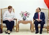 フック首相、豪の外務大臣と懇談