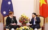 팜빙밍 부총리 겸 외교장관 호주 외교장관과의 회담