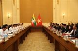 Phó Thủ tướng Chính phủ Vương Đình Huệ thăm Myanmar hội đàm với Phó Tổng thống Myint Swe