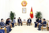 Thủ tướng Nguyễn Xuân Phúc tiếp lãnh đạo Tập đoàn AEON