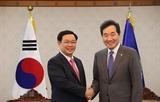 브엉딩후에 부총리 한국 총리 및 한국 국회의장과의 회견