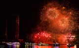 Đội Anh và Trung Quốc khoe sắc màu pháo hoa trên bầu trời Sông Hàn