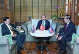 Thủ tướng Nguyễn Xuân Phúc gặp gỡ Thủ tướng Lào Campuchia bên lề Hội nghị Cấp cao ASEAN 34