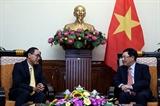 ឧបនាយករដ្ឋមន្ត្រី រដ្ឋមន្ត្រីការបរទេសវៀតណាម លោក Pham Binh Minh ទទួលជួប ឯកអគ្គរាជទូតថៃប្រចាំនៅវៀតណាម