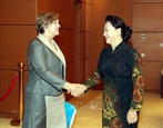 Председатель НС Вьетнама приняла главу представительства ЮНИСЕФ во Вьетнаме
