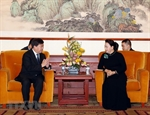 Dialoga máxima legisladora de Vietnam con ejecutivos de empresas líderes en tecnología de China