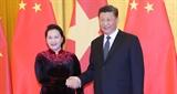 Chủ tịch Quốc hội Nguyễn Thị Kim Ngân hội kiến Tổng Bí thư Chủ tịch Trung Quốc Tập Cận Bình