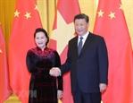 응웬티김응언 국회의장 시진핑 중국 국가주석와 회담