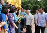 Генсек ЦК КПВ Президент встретился с председателями первичных профсоюзных организаций