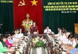 Chủ tịch Quốc hội làm việc với cán bộ chủ chốt tỉnh Vĩnh Long
