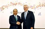 호주 총리 내외 베트남 공식방문
