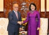 Phó Chủ tịch nước Đặng Thị Ngọc Thịnh tiếp Chủ tịch Tổ chức hỗ trợ đại học thế giới của Đức