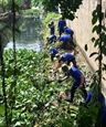 Green Summer volunteers clean up canals build roads and houses
