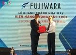 ឧបនាយករដ្ឋមន្រ្តីលោក Truong Hoa Binh បានចូលរួមពិធីបើកសម្ពោធរោងចក្រថាមពលពន្លឺព្រះអាទិត្យ Fujiwara