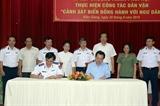 Phối hợp thực hiện công tác dân vận Cảnh sát Biển đồng hành cùng ngư dân