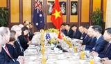 Giới doanh nhân góp phần thúc đẩy quan hệ đối tác chiến lược Việt Nam-Australia
