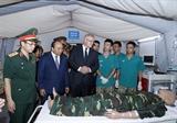 Thủ tướng Australia và Thủ tướng Việt Nam thăm Bệnh viện dã chiến cấp 2 số 2 tại Học viện Quân y