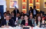 La présidente de lAN Nguyen Thi Kim Ngan assiste à la réunion du Comité exécutif de lAIPA
