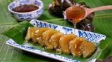 ハノイの街におけるゾョー(団子餅)―ベトナムの伝統的な食べ物