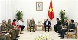 Thủ tướng tiếp Tổng Tham mưu trưởng Thứ trưởng thứ nhất Bộ Các lực lượng vũ trang Cách mạng Cuba