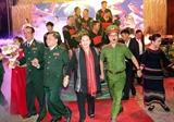 Chủ tịch Quốc hội Nguyễn Thị Kim Ngân dự chương trình Xuân Biên phòng ấm lòng dân bản tại huyện Buôn Đôn Đắk Lắk
