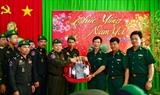 ការិយាល័យការពារព្រំដែនគោក កងទ័ពជើងគោកនៃកងយោធពលខេមរភូមិន្ទបានអញ្ជើញមកបំពេញជូនពរឆ្នាំថ្មីកងទ័ពការពារព្រំដែនខេត្ដ Tay Ninh