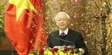 Tổng Bí thư Chủ tịch nước Nguyễn Phú Trọng chúc Tết lãnh đạo nguyên lãnh đạo Đảng và Nhà nước