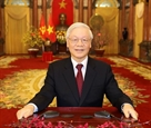 Tổng Bí thư Chủ tịch nước Nguyễn Phú Trọng chúc Tết đồng bào đồng chí và chiến sĩ cả nước
