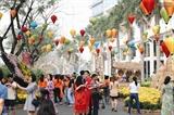 Жители города Хошимина совершают новогодние прогулки