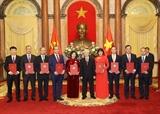Tổng Bí thư Chủ tịch nước Nguyễn Phú Trọng trao quyết định bổ nhiệm và tiếp các Đại sứ Trưởng cơ quan đại diện Việt Nam tại nước ngoài
