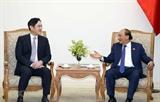 응웬쑤언푹 총리 삼성 그룹 부회장과의 회견