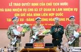 Thêm ba sĩ quan Quân đội nhân dân Việt Nam đi làm nhiệm vụ gìn giữ hòa bình Liên hợp quốc