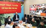 Thủ tướng Chính phủ Nguyễn Xuân Phúc trực tiếp nghe dự báo về cơn bão số 9 tại Trung tâm Điều hành tác nghiệp Khí tượng thuỷ văn