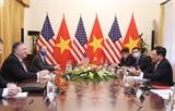 Phó Thủ tướng Bộ trưởng Ngoại giao Phạm Bình Minh hội đàm với Ngoại trưởng Hoa Kỳ Michael Pompeo
