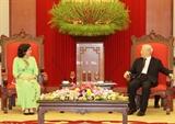 Tổng Bí thư Chủ tịch nước Nguyễn Phú Trọng tiếp Đại sứ Cuba