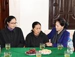 Председатель НС посетила семьи спасателей погибших в результате наводнения в центральном районе