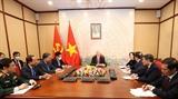 Tổng Bí thư Chủ tịch nước Nguyễn Phú Trọng điện đàm với Bí thư thứ nhất Đảng Cộng sản Cuba Raul Castro