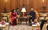 Phó Chủ tịch nước Đặng Thị Ngọc Thịnh hội kiến Tổng thống Cộng hòa Ấn Độ Ram Nath Kovind