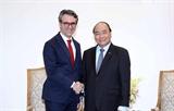 응웬쑤언푹 총리 피어 조르지오 알리베르티 주베트남 EU대사 접견