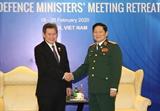 국방부 장관 하노이에서 아세안 사무총장과 만나