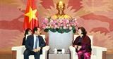 Chủ tịch Quốc hội Nguyễn Thị Kim Ngân tiếp Đại sứ Hàn Quốc