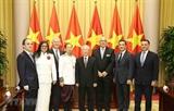 Генсек ЦК КПВ Президент Вьетнама принял Послов вручивших верительные грамоты