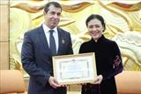 Послу Азербайджана во Вьетнаме вручили памятную медаль За мир и дружбу между народами